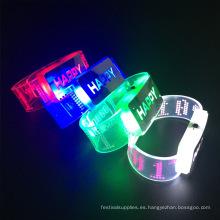 nuevos productos de boda favor 2017 feliz pulsera led