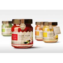 Productos de cocina Productos enlatados Galss Jar Miel Jam Jar Almacenamiento Botella Tarros