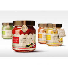 Produits de cuisine Produits en conserve Galss Jar Jarre de miel Carottes de bouteilles de stockage