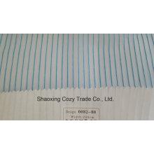 Nouveau tissu de rideau transparent Organza VoIP à rayures de projet populaire 008280