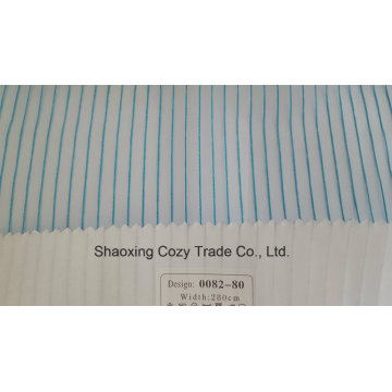 New Popular Project Stripe Organza Voile Sheer Curtain Fabric 008280