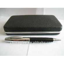 conjunto de canetas de couro de alta qualidade