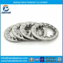 DIN6798 gezahnte Sicherungsscheibe, verzinkte Innenverzahnung