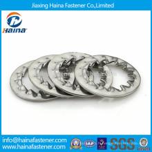 Rondelle serrure DIN6798, rondelle serrure à denture interne zinguée