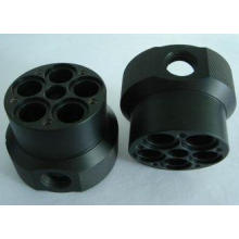 Custom black ABS machined plastic parts by material cutting