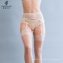 Großhandelsbüstenhalter und Schlüpfer reizvolles Mädchen neues BH panti Foto Strumpfband Beige Leavers-Spitze panty Unterwäscheschlüpfer