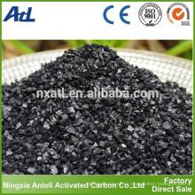 Yodo 800 mg / g carbón activado 8x30 carbono granular para la purificación del aire