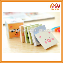 nice memo pad, sticky note with cartoon cover,cute korean stationery