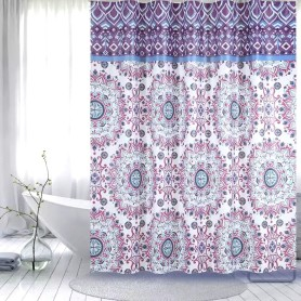 Rideau de douche PEVA Purple Flower