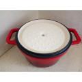 Cacerola de hierro fundido de esmalte tradicional / pote de sopa