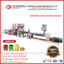 ABS-Gepäck-einzelne Schicht-Platten-Blatt-Fertigungsstraße-Plastikextruder-Maschine