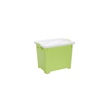 Household 20L Essentials with Lids And Sliding Wheels Storage Box