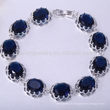 Bracelet de bijoux de chatte bracelet saphir cuivre
