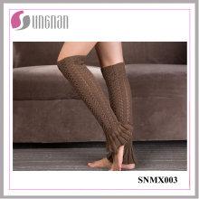 2015 mejores calcetines de la pierna del invierno del diseño del pie que hacen punto calcetines de lanas