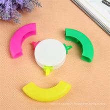 Stylo cadeau promotionnel de 3 couleurs surligneur