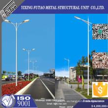 Poste de iluminación galvanizado de doble brazo de 10 m