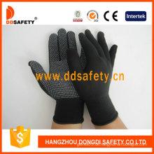 Nylon / Polyester-Handschuhe mit nahtlosen und PVC-Handschuhen (DKP418)