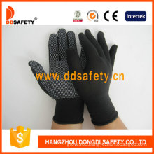 Nylon /Polyester Gloves with Seamless and PVC Gloves (DKP418)