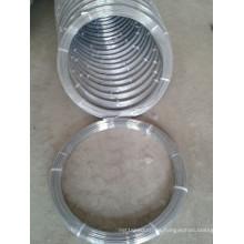Alambre de acero galvanizado ovalado 2.4X3.0mm de alto carbono