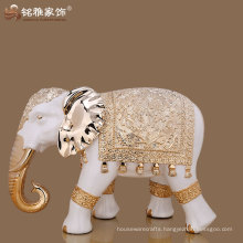 home hotel lobby decor polyresin lifelike large size elephant figurine