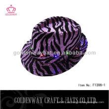 Sombrero de seda de lentejuelas con luces LED