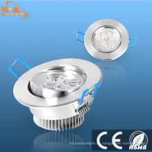 Ángulo de aluminio ajustable Lámpara de techo interior Spot LED Down Light