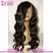 2016 nuevo estilo del pelo humano ondulado barato remy u pelucas para mujeres negras virgen brasileña u peluca de encaje parte