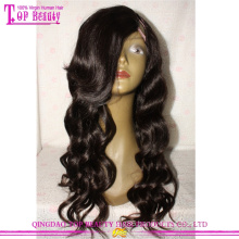 2016 New style human hair wavy cheap remy u part wigs for black women virgin brazilian u part lace wig