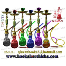 Hot Selling One Pipe Luxury zinc alloy Large Hookah