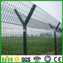 Factory Supply airport fence with Y post, pvc coated airport fence with Concertina Razor Barbed Wire