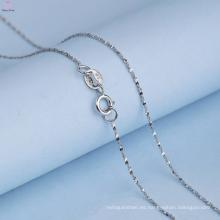 Hermosa cadena de plata 925 patrones de collar para niña