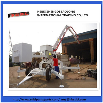 Hydraulic+mobile+concrete+pump+boom+placer