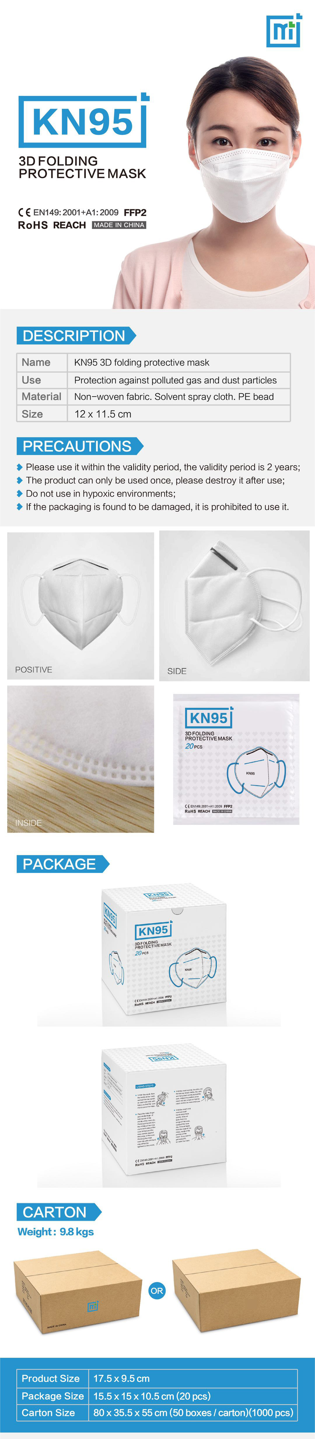 Disposable KN95 Mask