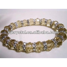 Champagne Diamond Beads Bracelet