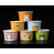 Enfants tasse de crème glacée bricolage gâteau tasse tasse de papier jetable