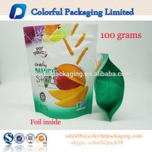100g food packaging bag heat sealing pouch food aluminum foil bags