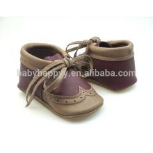 Zapatos de cuero del bebé de los zapatos ocasionales de la alta calidad