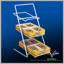 3 -Tiers Metal Slant Back Batata Chip Counter Display Rack