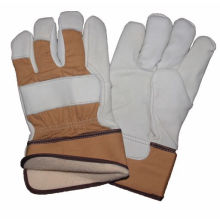 Cow Grain Safety Work Glove, CE Leather Winter Glove