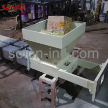 Press wood pallet block feet machine
