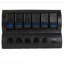 Interruptor de interruptor de circuito de interruptor de interruptor de barco 6 Gang con indicador LED