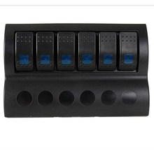 Boat 6 Gang Rocker Circuit Breaker Switch Panel with LED Indicator