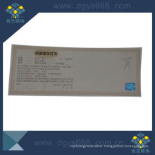 Hot Stamping Hologram on Security Paper Certificate