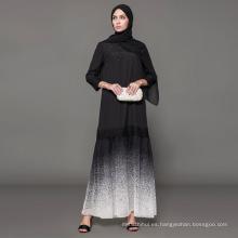 fabricante de la etiqueta Owner Designer marca oem women Islamic Clothing custom dubai vestido de lujo negro bordado abaya