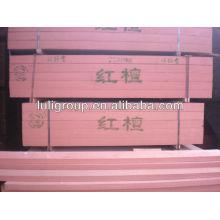Painel de madeira artificial de engenharia de nogueira vermelha