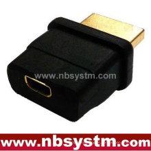 HDMI Um tipo macho para microfone fêmea tipo D