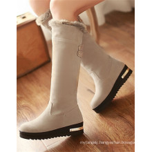 Sliver Grey Cute Lady Snowy Boots