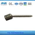 FDA Approuvé Fixation interne de la colonne vertébrale Spinal Implant Spine Surgery Poly Axial Pedicle Screw
