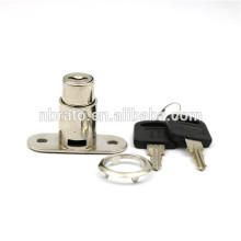 Nickel Finish Zinc Alloy Cylinder Push Lock pour Slidng Door
