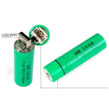 Wiederaufladbare 18650 Batterie mit eingebautem USB-Port